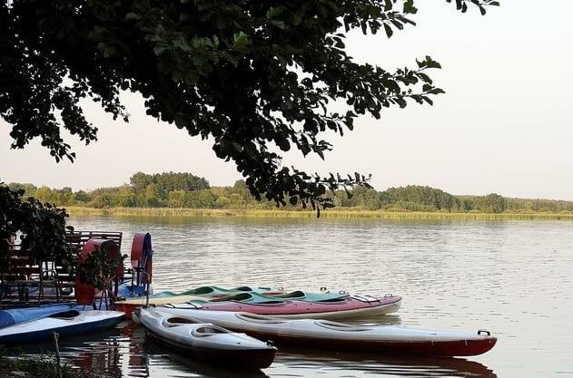 kayaking in lake